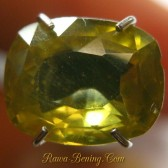 Cushion Zircon Brownish Yellow 2.40 carat