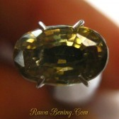 Greyish Yellow Oval Zircon 2.45 carat