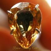 Zircon Tetes Air Kuning Kecoklatan 2.42 carat