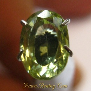 Jual Batu Mulia Zircon Oval 2.47 carat Kualitas Bagus