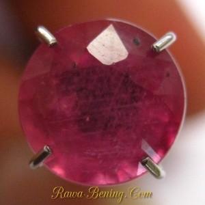 Harga Batu Mulia Ruby Round Pinkish 2.30 carat