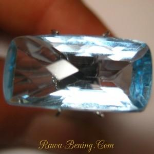 Harga Batu Permata Blue Topaz Rectangular VSI 10 carat