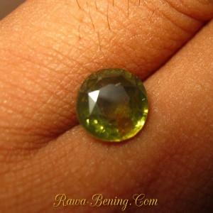 Batu Permata Round Cut Greyish Green Zircon 2.87 carat