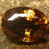 Diskon Batu Mulia Yellowish Brown Oval Zircon 2.14 carat