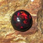 Black Opal Round Luster Merah 2.00 carat