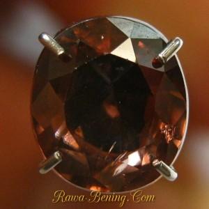 Batu Permata Orangy Brown Oval Zircon 2.22 carat