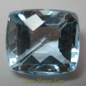 Batu Permata Ice Blue Topaz Rectangular 6.15 carat
