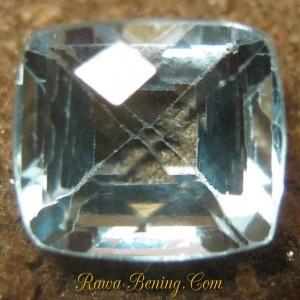 Harga Batu Mulia Ice Blue Topaz Rectangular 6.15 carat