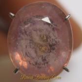 Batu Mulia Safir Kuning Pink Oval Cut 5.45 carat www.rawa-bening.com