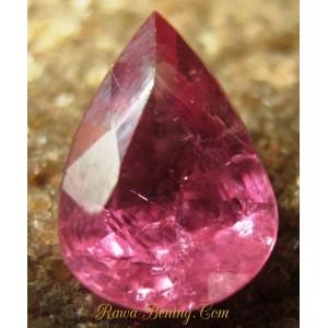 Gambar Batu Mulia Pinkish Red Ruby Pear Shape 0.80 carat www.rawa-bening.com