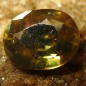 BatuPermata Asli Oval Brownish Yellow Zircon 1.86 carat