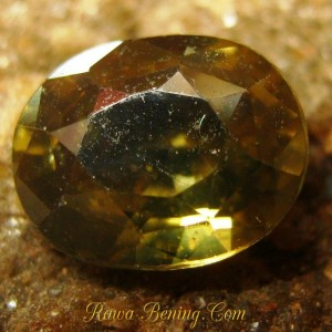 BatuPermata Asli Oval Brownish Yellow Zircon 1.86 carat