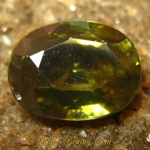Jual Batu Mulia Asli Greenish Yellow Zircon 1.77 carat