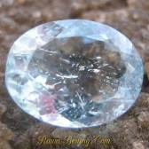Batu Permata Alami Berkualitas Oval Light Blue Aquamarine 1.70 carat