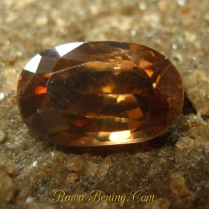Oval Orangy Brown Zircon 2.13 carat