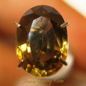 Jual Batu Permata Oval Brownish Orange Zircon 2.79 carat