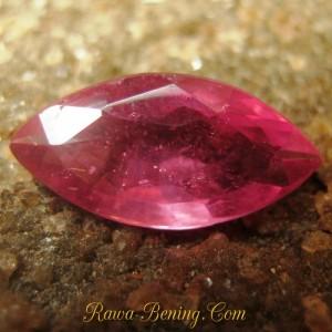 Batu Mulia Pinkish Red Ruby Marquise 1.20 carat
