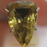 Jual Batu Permata Zircon Kuning Triangular Cut 2.74 carat