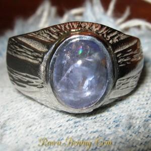 Tanzanite Silver Ring 10US