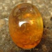 Batu Mulia Safir Kuning Orangy Oval Cab 3.95 carat