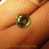 Batu Permat Asli Greenish Yellow Zircon Round Cut 2.84 carat
