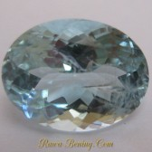 Batu Permata Light Blue Aquamarine Oval Cut 2.85 carat