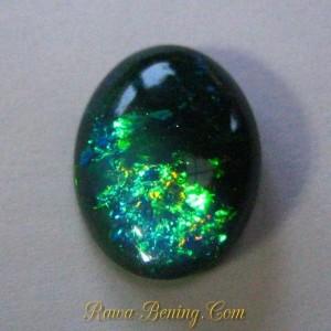Batu Mulia Blackish Blue Opal Color Play 4.46 carat Asli