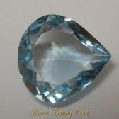 Pear Baby Blue Topaz 4.25 carat
