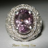 Ladies Amethyst Silver Ring 7.5US