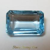 Square Cut Ice Baby Blue Topaz VVS 4.25 carat