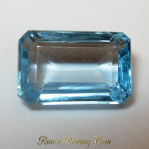 Square Cut Ice Baby Blue Topaz VVS 4.25 carat