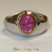 Cincin Mata Ruby Silver 925 Ring 6.5 US