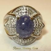 Retro Woman Silver Ring 6.5 US
