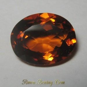 Batu Permata Citrine Oranye Oval Cut 3.16 carat Top Fire