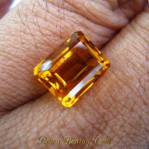 Citrine Oranye Segi Panjang 3.75 carat
