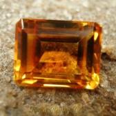 Batu Mulia Citrine Oranye 3.75 carat Rectangular ~ www.Rawa-Bening.Com