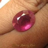 Batu Mulia Natural Ruby Oval Cut 6.40 carat Purplish Red