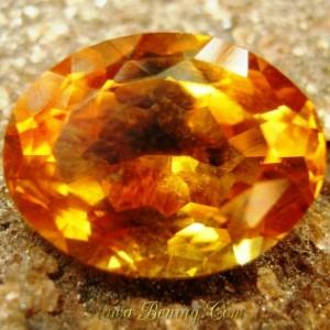 Batu Mulia Citrine 4.05 carat Kualitas Super, Siapa cepat dia dapat!