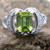Cincin Silver Peridot Ring 7 US