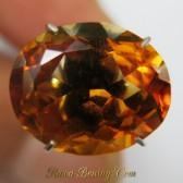 Oval Yellowish Orange Citrine 4.12 carat