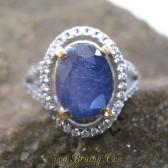 Cincin Safir Wanita Silver Ring 6.5 US