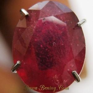 Oval Top Blood Red Ruby 2.54 carat Dijamin Asli!