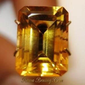 Yellow Rectangular Citrine VSI 3.20 carat oh indahnya..