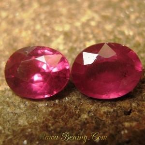 2 Pcs Rhodolite Garnet Pinkish Purple 2.70 carat
