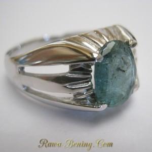Cincin Zamrud Silver 925 Ukuran 11 US