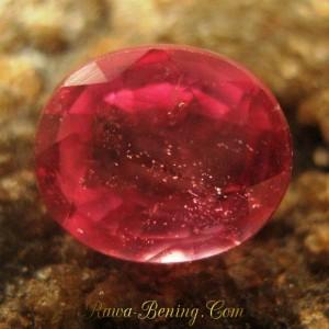 Batu Permata Pinkish Red Ruby Oval 1.15 carat Berkualitas Tapi Murah!