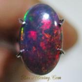 Black Opal Motif Harlequin 0.95 carat