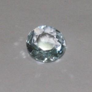 Round Diamond Blue Topaz 1.2 cts kilau luster bercahaya