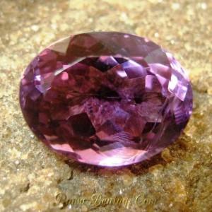Permata Amethyst Deep Purple Oval 6.85 carat bercahaya Indah Elegan
