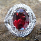 Red Pyrope Garnet Silver Ring 7 US